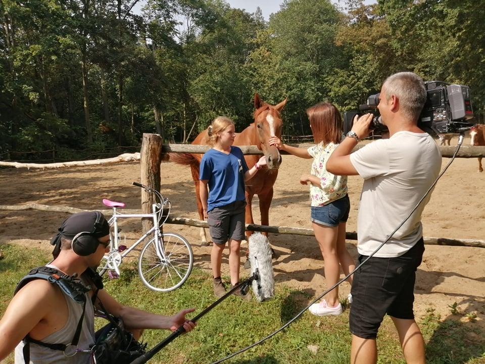 Nasze konie w obiektywie kamery ekipy TVP Wrocław!
